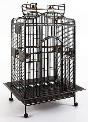 "Extra Large 32""X23""X62""H Parrot Macaw Cockatoo African Grey Amazon Iron Cage 528"