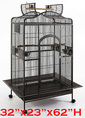 "Extra Large 32""X23""X62""H Parrot Cage For Macaw Cockatoo African Grey Amazon 439"