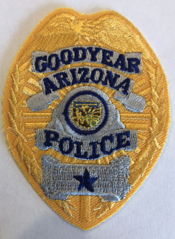 Obsolete Goodyear Arizona Police Patch ~ Badge Design