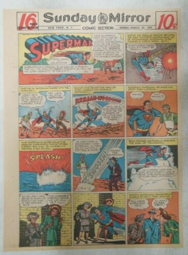 Superman Sunday Page #386 by Wayne Boring from 3/23/1947 Size ~11 x 15 inches