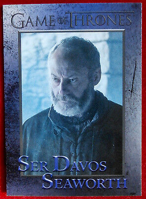 GAME OF THRONES - Season 6 - Card #38 - SER DAVOS SEAWORTH - Rittenhouse - 2017
