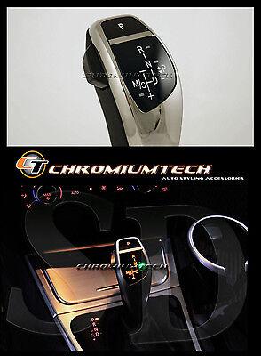 BMW E90 E92 3-Series CHROME LED Shift Gear Knob for LHD w/Gear Position Light