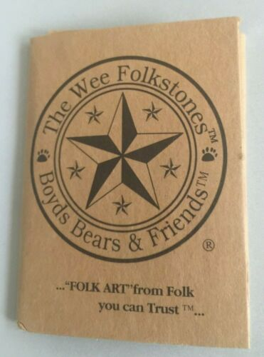 Wee Folk Boyds Bear Figurine - COA BOOKLET INSERT ONLY