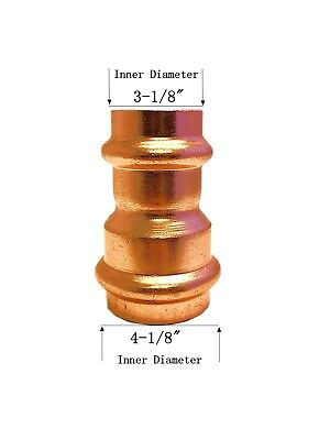 Libra Supply Lead Free 4 X 3 Inch Copper Press Coupling Bell Reducer P X P