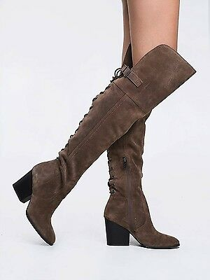 bb805aeda Circus by Sam Edelman Tatum Brown Suede Over The Knee Boots Sz 6 NEW фото
