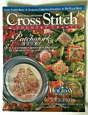 Vintage 1993 Better Homes And Gardens Cross Stitch And Country Crafts Christmas Better Homes And Gardens Cross Stitch