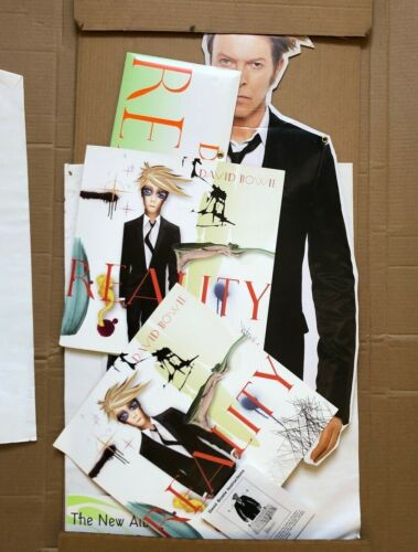 DAVID BOWIE Reality 2003 US In-Store PROMO 3-D Hanging Mobile Display + FLATS