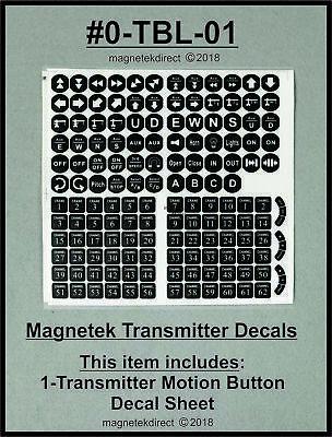 Radio Remote Control Transmitter - Magnetek Radio Remote Control Transmitter Motion Push Button Decal Label Sheet