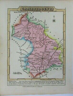 Antique map of Cambridgeshire by William Lewis 1819