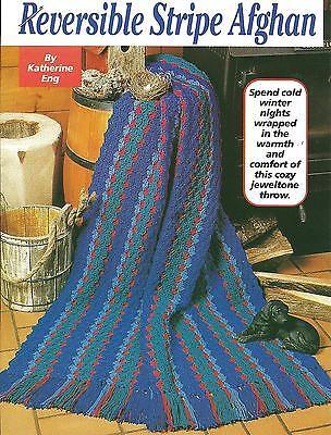 Reversible Stripe Afghan crochet PATTERN INSTRUCTIONS
