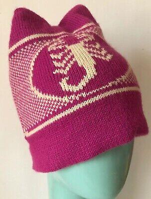 NEW BULA Youth Knit Beanie Toboggan Winter Ski Hat Rust