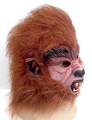 Teen Wolf BRAUN WERWOLF MASKE Halloween Horror Kostüm 80's Cosplay Kostüm