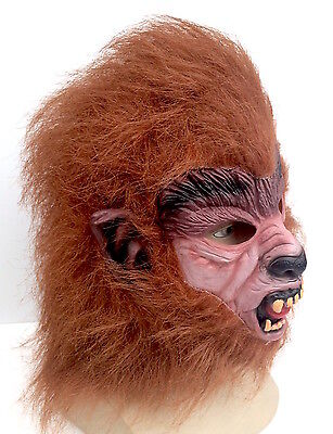 Teen Wolf Brown Werewolf Mask Halloween Horror Fancy Dress 80's Cosplay Costume](Teen Wolf Mask)