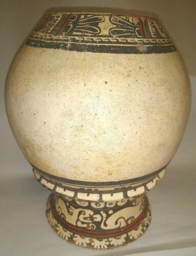 Pre-Columbian Terracotta Patakay Polychrome Pedestal Vase ~ Gran Nicoya C.1100AD