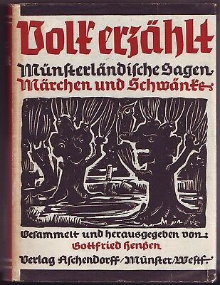 Volk erzählt Münsterländische Sagen Märchen  Schwänke 1954 Henßen  Münster