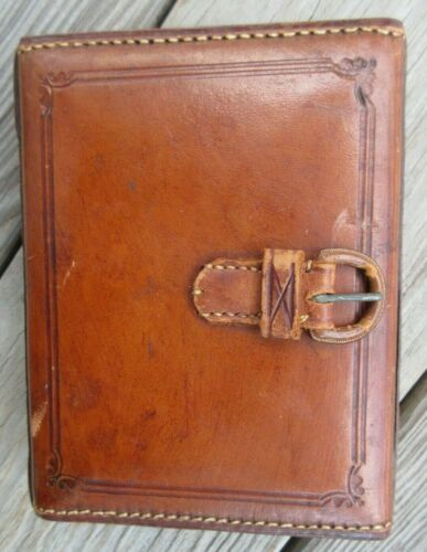 Antique CASWELL HAZARD CO NY Doctors Leather Apothecary Travel Case NO Bottles