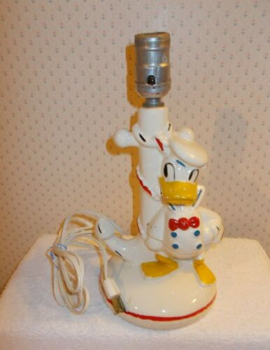DISNEY FAPCO POTTERY SAILOR DONALD DUCK ANCHOR LAMP approx. 70 YEARS OLD!