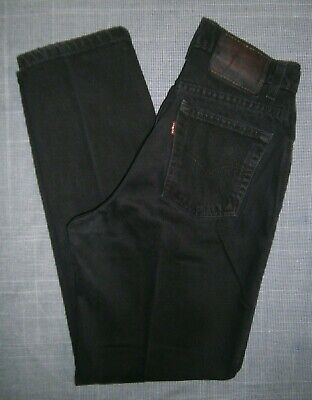 VINTAGE LEVI'S * WOMEN'S 6 * LEVI'S 550 BLACK LABEL RED TAB TAPERED DENIM JEANS Black Label Vintage Jeans