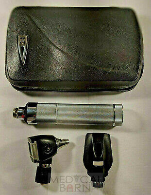 Welch Allyn 3.5 Volt Diagnostic Set W 20000 Otoscope Ophthalmoscope Plugin Hand