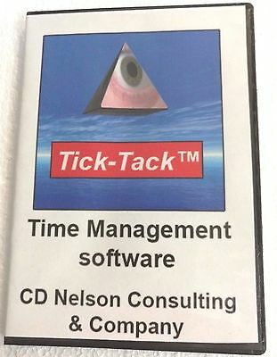 Click-time Time Clock Time Management Software Up To 3 Employees One License