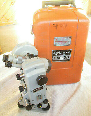 Lietz Sokkisha Tm20h Theodolite Transit Survey With Case. For Surveying