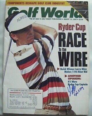 LARRY MIZE signed 1993 GOLF WORLD magazine AUTO Autographed GEORGIA TECH AUGUSTA Autographed Golf World Magazine
