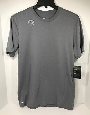 Nike Arch T-shirt - *New* Nike Grey Cotton Dri-Fit Branded Arch Basketball Men's T-shirt 898385-065