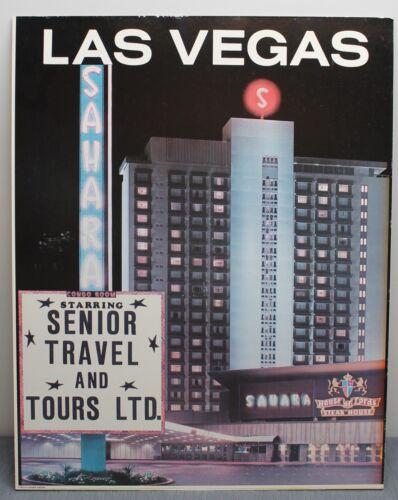 Original Las Vegas Sahara Hotel Congo Room Casino Travel Poster 1970s House Lord