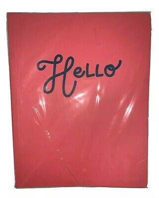 Gartner Studios Pink Leather Notebook 7.5 X 9.5 Inches 96 Sheets Journal Hello