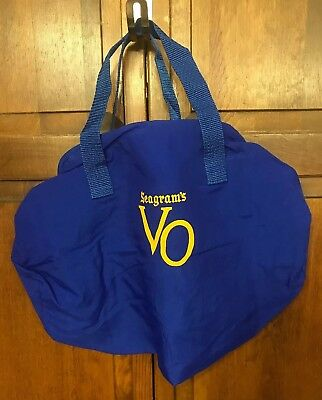 "Seagram's VO Sports Duffel Gym Beach Tote Book Royal Blue Bag 17"" x 8"""