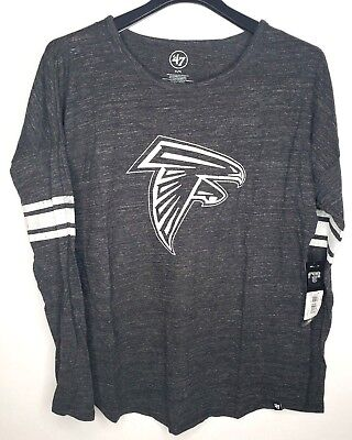 69712f61 '47 NFL Atlanta Falcons Women's Neps Long Sleeve Tee Sz XL Color Carbon  Black