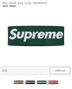 Supreme Green New era headband