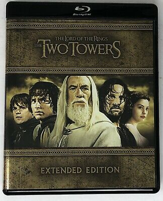 The Lord of the Rings The Two Towers Extended Edition (Blu-ray + DVD 5 Discs) VG