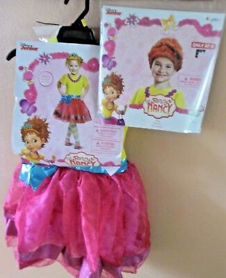 DISNEY JUNIOR FANCY NANCY DELUXE 4-6X HALLOWEEN  COSTUME AND WIG DRESS LEGGINGS