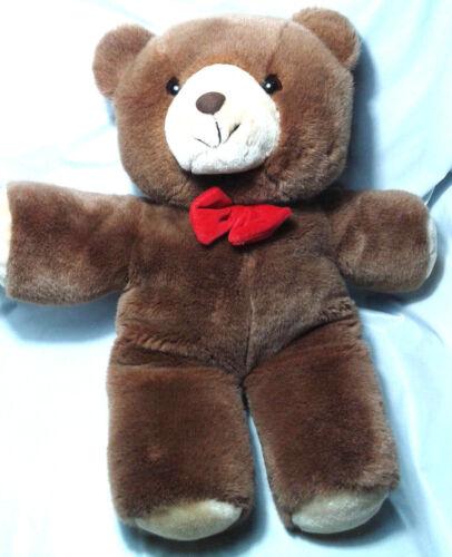 "Vintage Gerber Teddy Bear TLC Tender Loving Care 20"" Red Bow Plush"