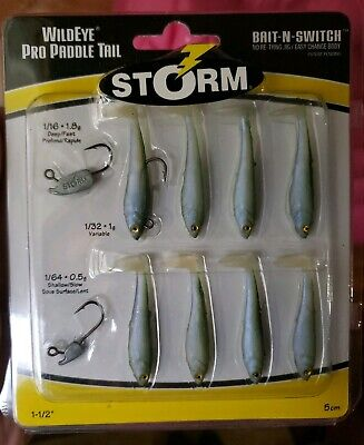 """Paddle Tail Swim Bait RAINBOW TROUT 100 pack USA 2/"""" Paddle Tail Shad"""