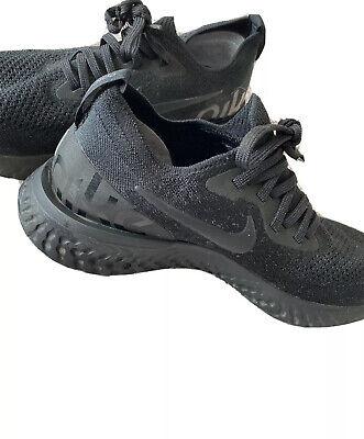 Nike Epic React Flyknit Triple Black Trainers. UK 6 Nike Running Shoes.