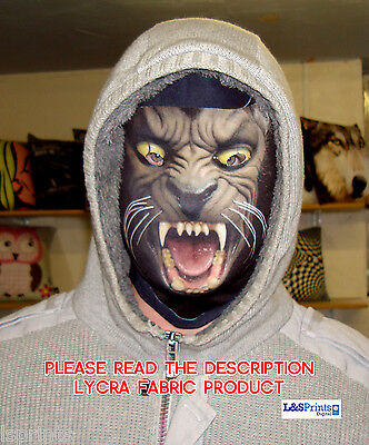 Scary Halloween Full Face Mask Werewolf Design Fabric Fancy Dress Horror  - Scary Halloween Mask Designs