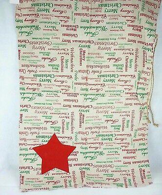 Weihnachtssack aus Leinen Nikolaus-Sack Merry Christmas Weihnachten 60 x 85cm