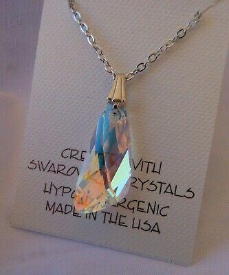 Aurora Borealis Pendant (Swarovski Elements Crystal in Aurora Borealis Pendant Necklace Aurore Boreale AB )