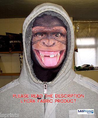 Unverschämter Affe Zunge Out Design Gesichtsmaske Lycra Gewebe Kostüm (Kostüm Lycra Gewebe)