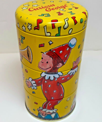 Curious George Puzzle Twisting Tin Collectible by Schilling Year 1995