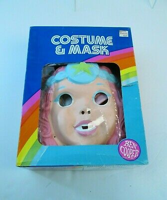 Vintage 1980s Moon Dreamers Crystal Starr Ben Cooper Plastic Costume Mask w/Box