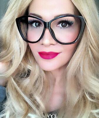 Oversized VICTORIA Cat Eye Clear Lens Women Large Fashion Eyeglasses Frames (Large Cat Eye Frames)