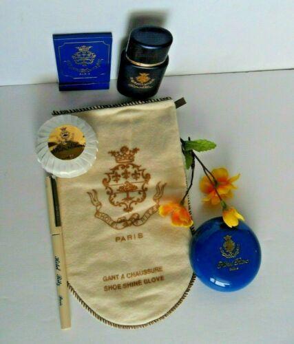 Ritz Paris Hotel souvenirs soaps in container shampoo nail file shoe glove pen