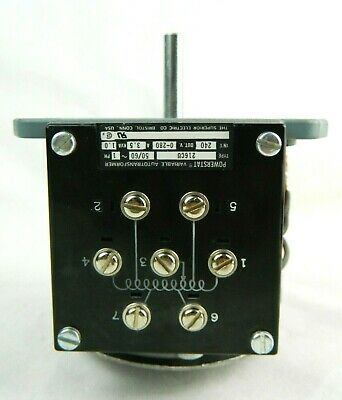 Superior Electric 216cu Variable Transformer 240 Vac 3.5 A Powerstat Series