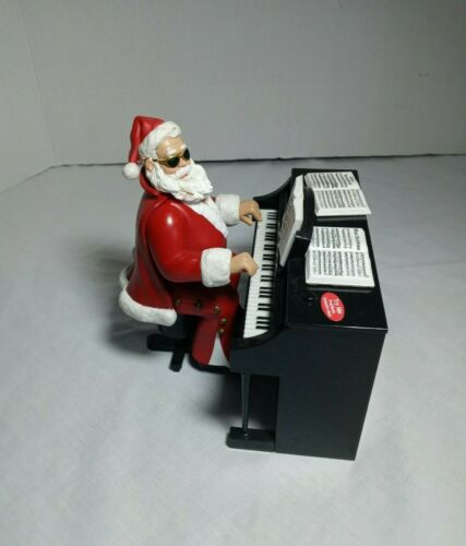 Elvis Presley Santa Claus on Piano Plays 3 different songs Moves hands COMPLETE