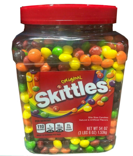 🔥 Skittles Original Fruity Candy Jar 54 oz 🔥