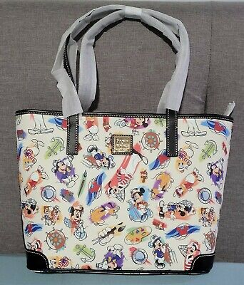 NWT Disney Dooney & Bourke Captain Mickey & Friends Ink & Paint Cruise Tote