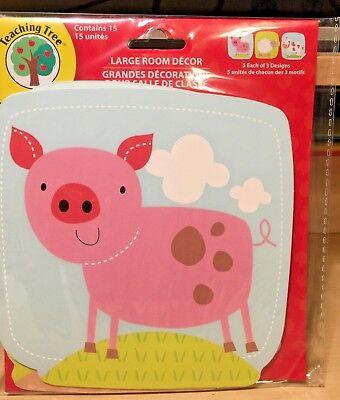15 Ct Cute Farm Animal Theme Classroom Decor Homeschool Teacher Resource